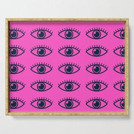 eye ball central pink Serving Tray