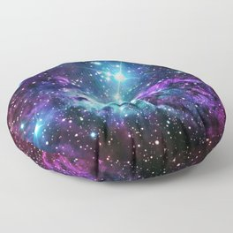 Fox Fur Nebula : Purple Teal Galaxy Floor Pillow