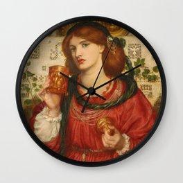Dante Gabriel Rossetti - The Loving Cup Wall Clock