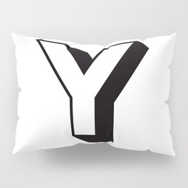 Letter Y ... As Easy As ... Pillow Sham