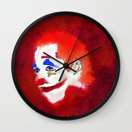 Scary Clown, Horror, Sinister, Red,  Wall Clock