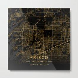 Frisco, United States - Gold Metal Print