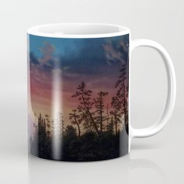 Sunset in California landscape painting by Gilbert Munger Coffee Mug