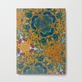 Orange and Green Flora Metal Print