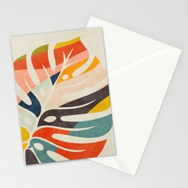 shape leave modern mid century Stationery Cards