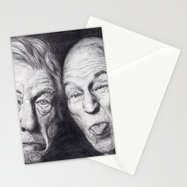 Patrick Stewart & Ian McKellen Stationery Cards