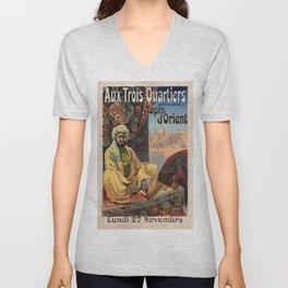 Vintage poster - Aux Trois Quartiers Unisex V-Neck