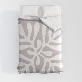 Henri Matisse abstract cut out flower lavender minimal contemporary print Comforters