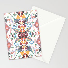Rainbow No. 7 - the sun, the moon, palm trees, eyes, rainbows and more pattern Stationery Cards