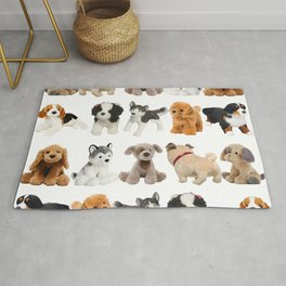 Fluffy Puppy Dog Kids Pattern Rug