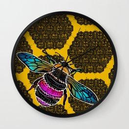 Honeybee lace | Nicole B Roberts Wall Clock