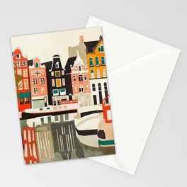 shapes houses of Amsterdam Stationery Cards