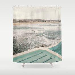 Gazing over Bondi Beach, Sydney  Shower Curtain