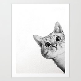 sneaky cat Kunstdrucke