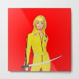 Kill Bill! Funny Barbie Art! Film Art! Metal Print