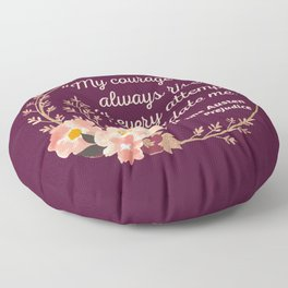 Pride and Prejudice Quote I - Cute Style Floor Pillow