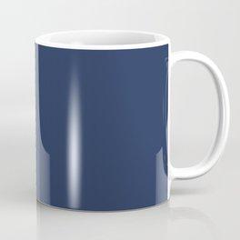 peach and navy stripes, minimalist, simple design, cool, chic, modern, elegant Coffee Mug