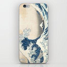 The Great Wave off Kanagawa by Katsushika Hokusai from the series Thirty-six Views of Mount Fuji iPhone Skin