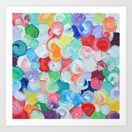 Polka Daub Rainbow Oysters Art Print