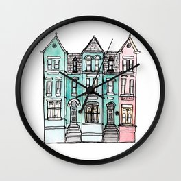DC Row House No. 2 II U Street Wall Clock