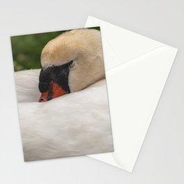 Sleeping Swan Stationery Cards