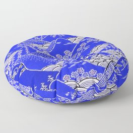 Japanese Mountains Print Floor Pillow
