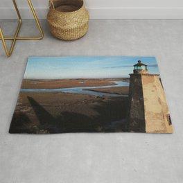 Old Baldy Lighthouse | Drone Photo | Bald Head Island, NC Rug