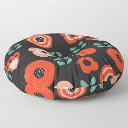Midnight floral decor Floor Pillow
