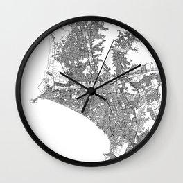 Lima White Map Wall Clock