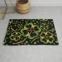 Irish Shamrock Four-leaf Lucky Clover Pattern Rug