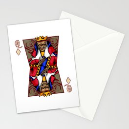 Skull Queen Card Skeleton Dead Playcard Graphic Day Of the Dead Holiday Humor Design Stationery Cards