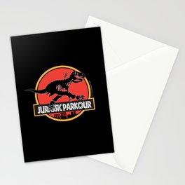 Jurassic Parkour Stationery Cards