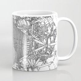 Apollo Rocket Engine Booster Coffee Mug