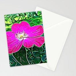 Magenta Flower of Harmony Stationery Cards