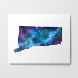 Connecticut Galaxy of Stars Metal Print