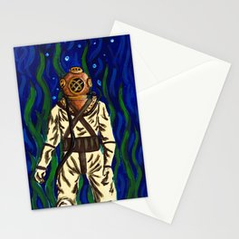 Diving Suit Stationery Cards
