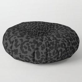 Goth Black Leopard Animal Print Floor Pillow