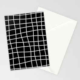 Hand Drawn Grid (white/black) Stationery Cards