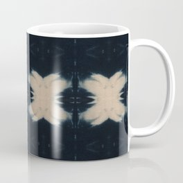 Midnight Shibori Flowers Coffee Mug