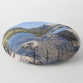 Tuolumne River and Meadows, No. 1 Floor Pillow