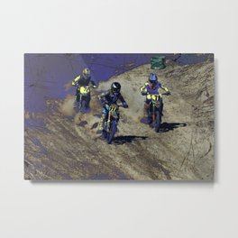 The Home Stretch - Motocross Racers Metal Print