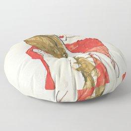 """Egon Schiele """"Mother and Daughter"""" Floor Pillow"""