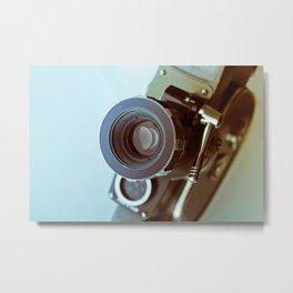 Vintage old movie Super-8 camera Metal Print