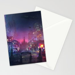 Barcelona Smoke & Neons: Sant Pau i La Sagrada Familia Stationery Cards