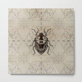 Sacred Geometry Soldier Bug Metal Print