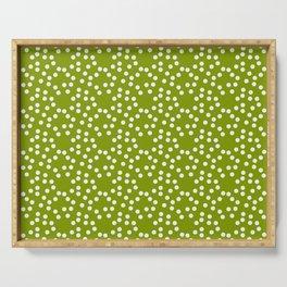 new polka dot 103 green Serving Tray