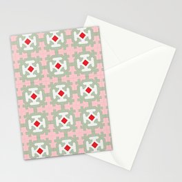Vintage mid century patchwork Stationery Cards