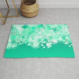 paint splatter on gradient pattern magi Rug