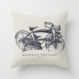 BUFFALO FACTORY Vintage Bicycle Throw Pillow