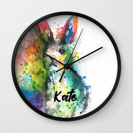 Bunny Splash Kate Wall Clock